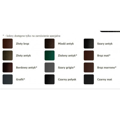 Skrzynka na listy wisząca – kolory