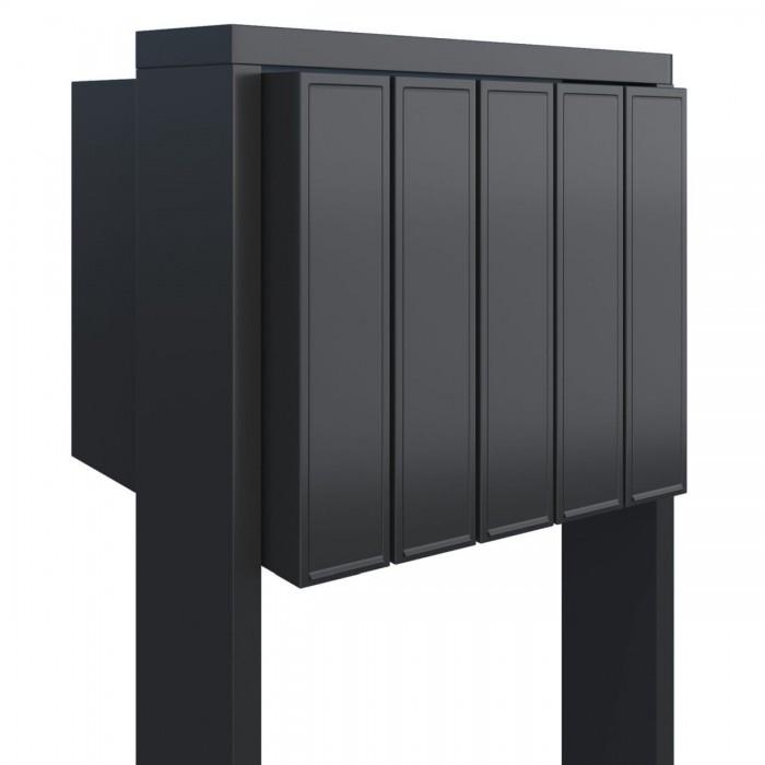 czarna skrzynka pocztowa stojąca