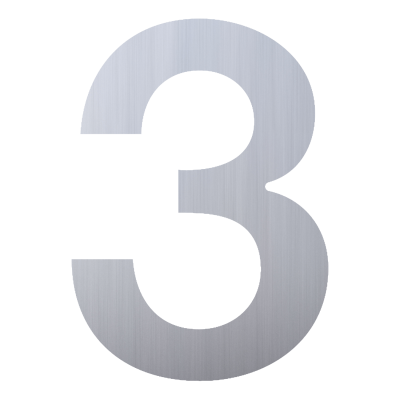 Numery na dom - cyfra 3...