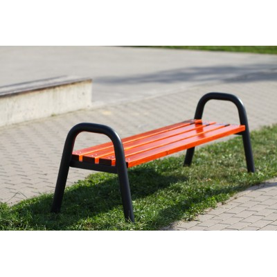 Ławka parkowa metalowa •...