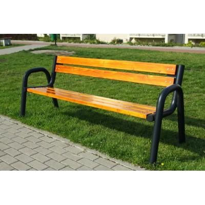 Duża ławka z oparciem -...