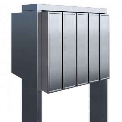 skrzynka pocztowa na stojaku inox