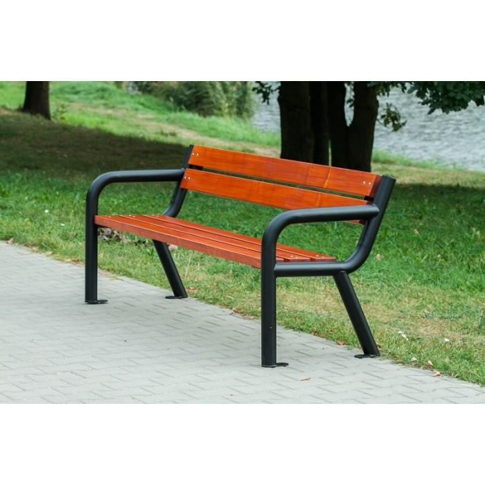 Zaktualizowano Ławka stalowa do parku, ogrodu Viking • Ławki miejskie sklep PD37