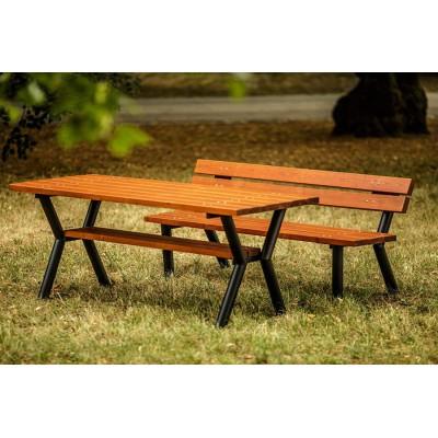 Stół parkowy stalowy,...