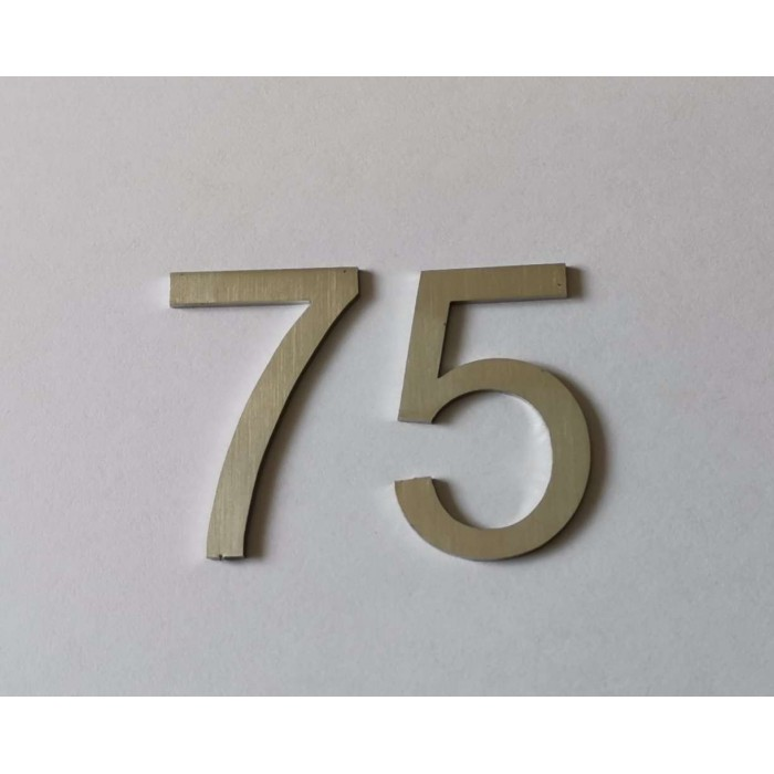 numer nierdzewny na drzwi, skrzynkę pocztową