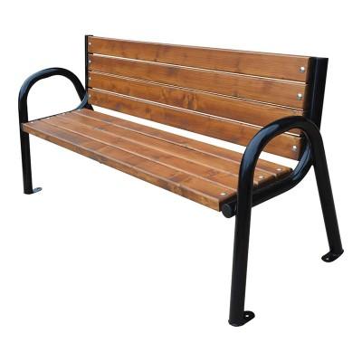 ławka z rur stalowych...